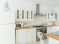 kitchen cupboards and cooker